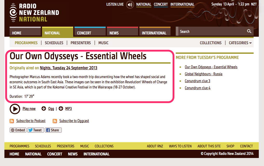 Our_Own_Odysseys_-_Essential_Wheels___Nights__7_12_pm_on_24_September_2013___Radio_New_Zealand